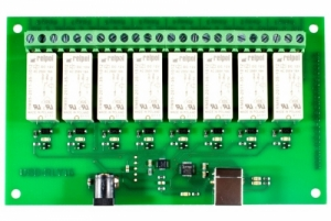 로봇사이언스몰[로봇사이언스몰][DFRobot] USB - RLY 16 16Amp, 8 Channel Relay Module dfr0235