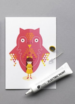 로봇사이언스몰[로봇사이언스몰][BareConductive] Flashing Card Set Power Animals