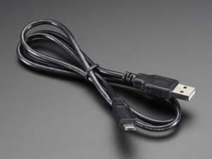 로봇사이언스몰[로봇사이언스몰][라즈베리파이] USB cable - A/MicroB - 3ft id:592
