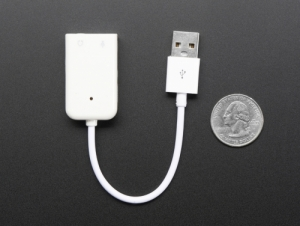 로봇사이언스몰[로봇사이언스몰][라즈베리파이] USB Audio Adapter - Works with Raspberry Pi id:1475