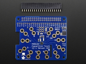 로봇사이언스몰[로봇사이언스몰][Adafruit][에이다프루트] Adafruit Capacitive Touch HAT for Raspberry Pi - Mini Kit - MPR121 id:2340