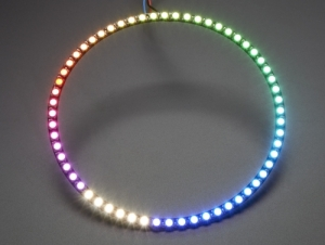 로봇사이언스몰[로봇사이언스몰][Adafruit][에이다프루트] NeoPixel 1/4 60 Ring - 5050 RGBW LED w/ Integrated Drivers - Natural White - ~4500K id:2874