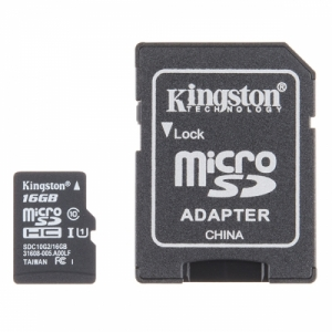 로봇사이언스몰[로봇사이언스몰] MicroSD Card with Adapter - 16GB (Class 10) com-13833