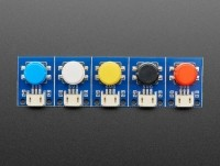 [로봇사이언스몰][Adafruit][에이다프루트] STEMMA Wired Tactile Push-Button Pack - 5 Color Pack ID:4431